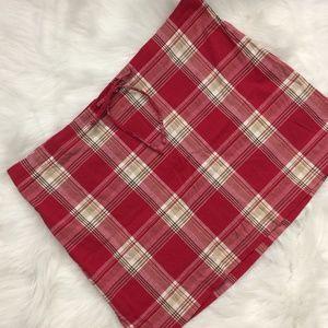 A. Byer Red Plaid Slit Mini Skirt M/L